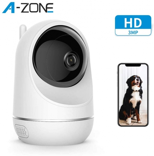 A-ZONE Baby Monitor, drahtlose 3MP IP-Kamera mit Baby Crying Motion Detection Funktioniert mit Alexa